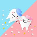 cute cartoon tooth - 204842929