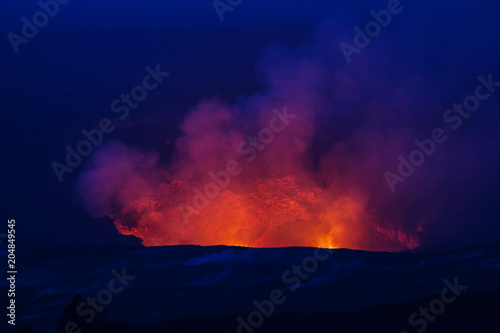 Plexiglas Galyna A. Active volcano
