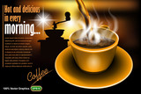 Coffee advertising template