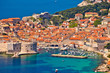 Leinwanddruck Bild Town of Dubrovnik UNESCO world heritage site harbor view