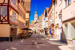 Beautiful scenic view of the old town in Tauberbischofsheim - part of the Romantic Road, Bavaria, Germany