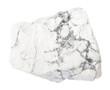 Quadro raw Howlite stone isolated on white