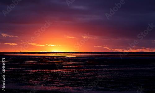 Aluminium Zee zonsondergang Coucher de soleil Bassin arcachon