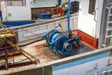 Paimpol. Moteur à bord d'un chalutier au port. Côtes d'Armor. Bretagne - 204868988