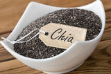 Chia seeds and label - 204870127