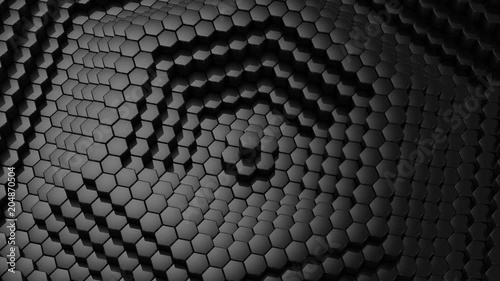 Poster Hexagons Formed A Wave