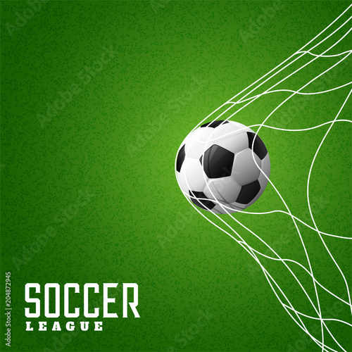 Fototapeta football hitting goal net background
