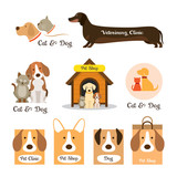 Cats & Dogs Logo and Symbol, Pets,Clinic, Shop or Store