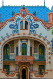 Detail of House of architect Ferenc Raichle in Hungarian Art Nouveau style. Subotica, Serbia - 204873358
