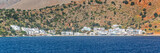 Scenic village of Loutro and the mediterranean sea  in Crete, Greece - 204878599