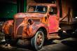 Old Pickup Truck Distillery District Toronto