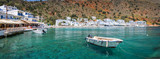 Panorama of the scenic village of Loutro in Crete, Greece - 204884764