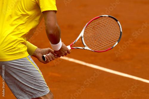 Fotobehang Tennis Tenis. Esperando saque
