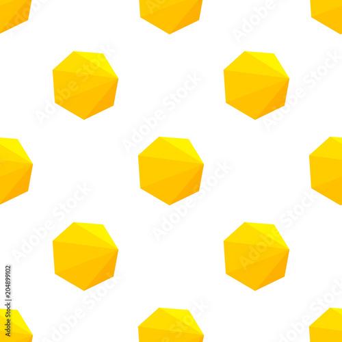 Geometric yellow figures pattern.