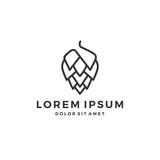 hop brew brewery logo line outline - 204905957