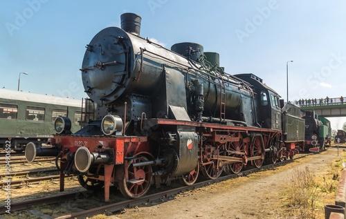 vintage steam engine train