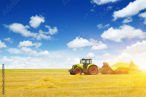 Aluminium Trekker tractor on field
