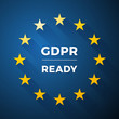 GDPR READY, Euro General Data Protection Regulation, vector label - 204915545