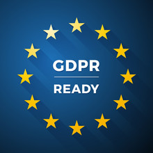 Gdpr Ready Euro General Data Protection Regulation  Label Sticker