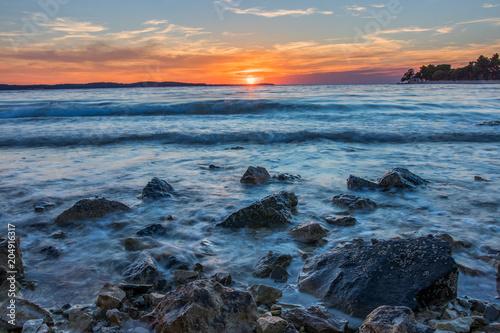 Aluminium Zee zonsondergang Sea Sunset