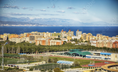 panorama of  Torremolinos coast