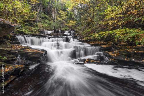 Delaware Falls Downstream - Ricketts Glen, Pennsylvania
