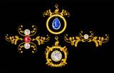 Pendant gold with diamond
