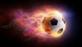 Football ball flamy symbol