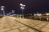 Szczecin / city by night, boulevards above the river. - 204947114