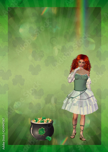 Poster with Leprechaun