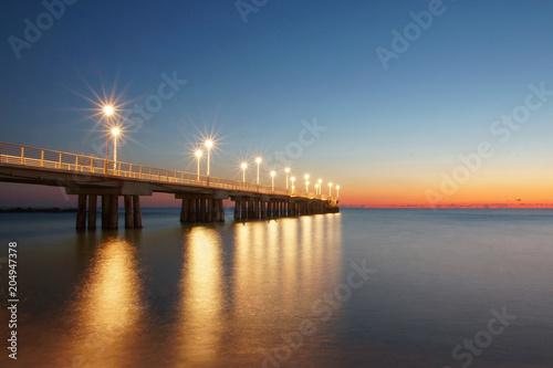 Plexiglas Zee zonsondergang blue hour in north tuscany