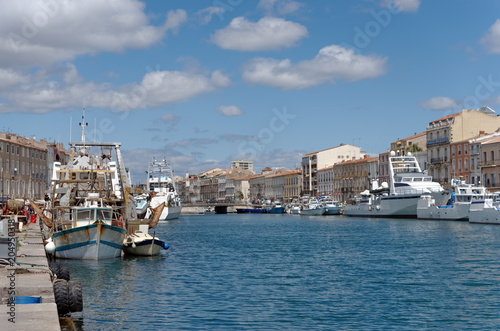 Foto Murales Sete harbor in the south of France