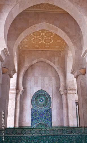 Details of exterior of Hassan II Mosque in Casablanca, Morocco, Africa