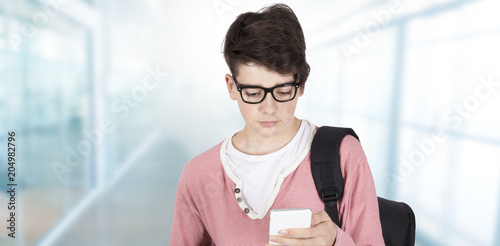 student with books, education and teaching