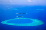 Amazing aerial view on the islands and atoll from above - 204988774