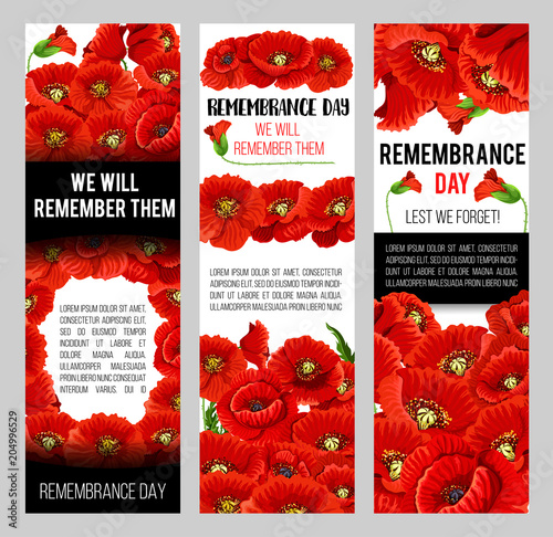 Remembrance Day poppy wreath with memorail ribbon