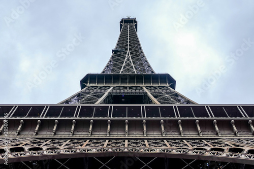 Fotobehang Blauwe hemel Photo image a Beautiful panoramic view of Paris Metropolitan City