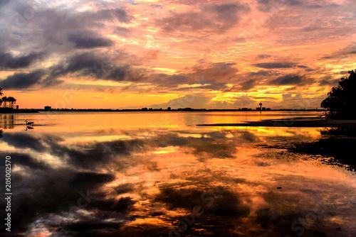 Plexiglas Strand Beautiful sunset on the beach landscape