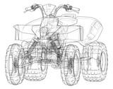 ATV quadbike concept outline. Vector - 205010734