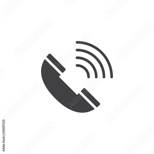 Phone call vector icon. filled flat sign for mobile concept and web design. Ringing phone simple solid icon. Symbol, logo illustration. Pixel perfect vector graphics