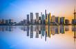 Quadro The skyline of urban construction in Shanghai
