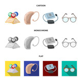 Lottery, hearing aid, tonometer, glasses.Old age set collection icons in cartoon,flat,monochrome style vector symbol stock illustration web. - 205021396