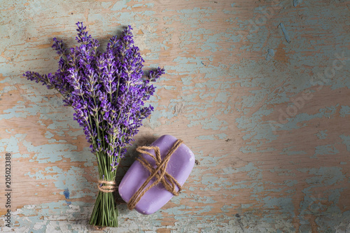 Plexiglas Lavendel Lavander and soap