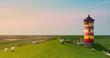 Leinwanddruck Bild - A beautiful lighthouse on the East Frisian coast