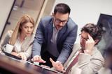Portrait of successful creative business team