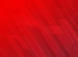 Fototapety Abstract lines pattern technology on red gradients background.