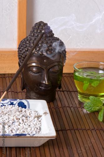 Plexiglas Zen Tea and incense