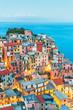 Quadro Manarola Village, Cinque Terre Coast of Italy