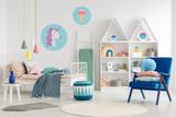 Colorful kid's bedroom interior - 205045366