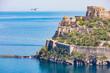 Quadro Aragonese Castle is most visited landmark near Ischia island, Italy